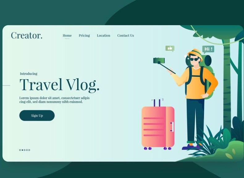 Vlogger Vector Illustration