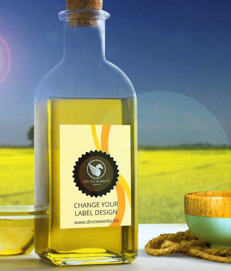 Free Mustard Bottle Mockup PSD