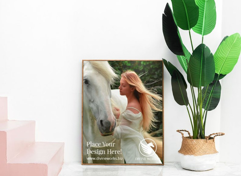 Download Free Big Picture Frame Mockup PSD by Divine Works