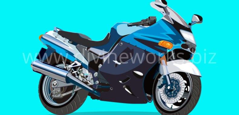 Download Heavy Bike Vector Illustration by Divine Works