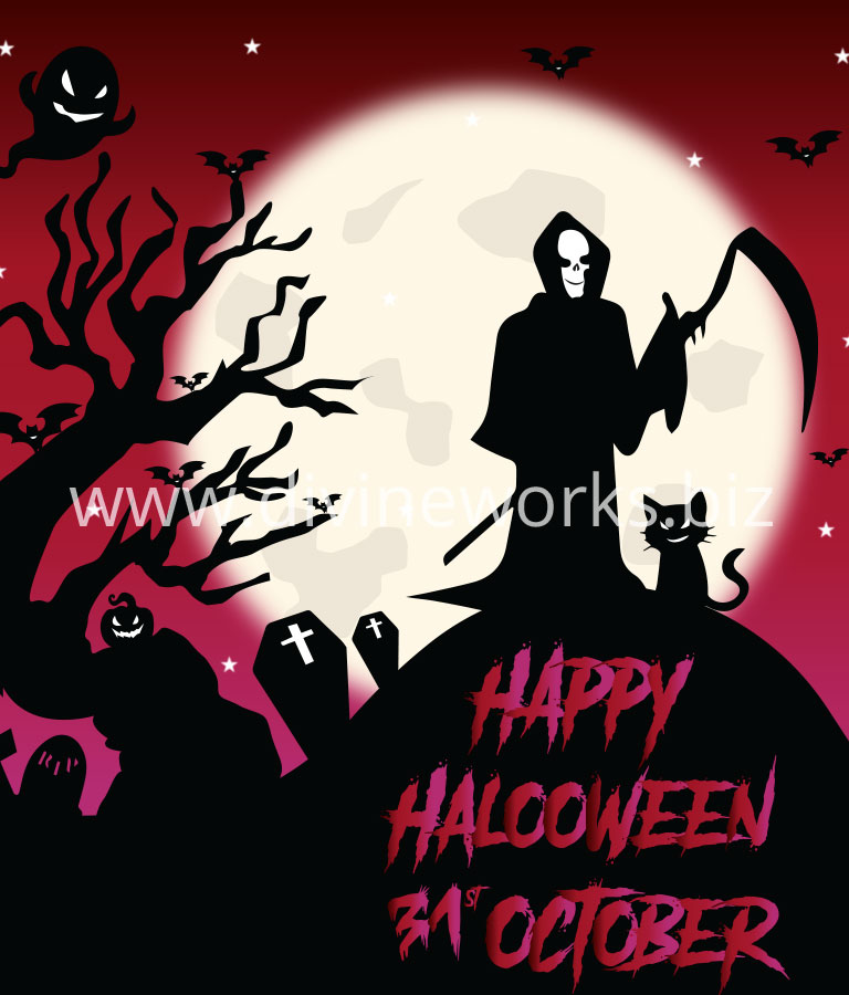 Free Happy Halloween Scary Vector