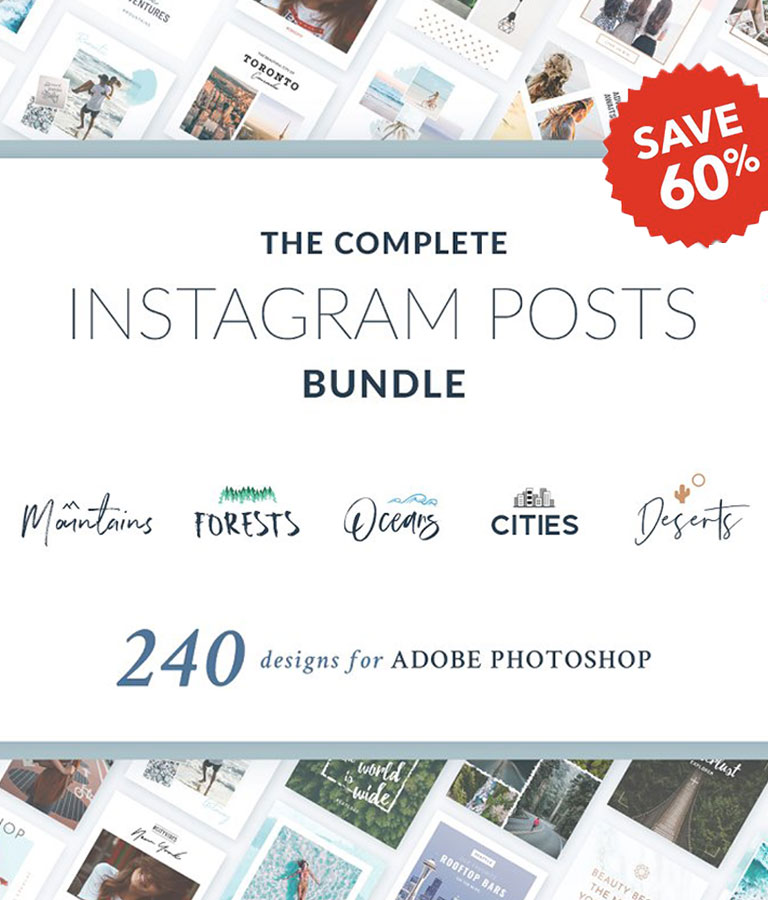 Instagram Posts Complete Bundle