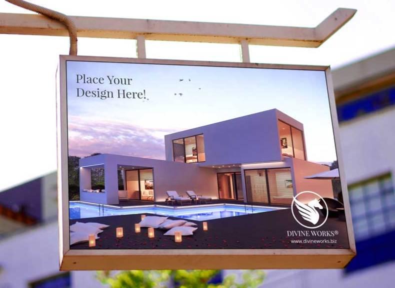 Download Free Hanging Signboard Mockup by Divine Works
