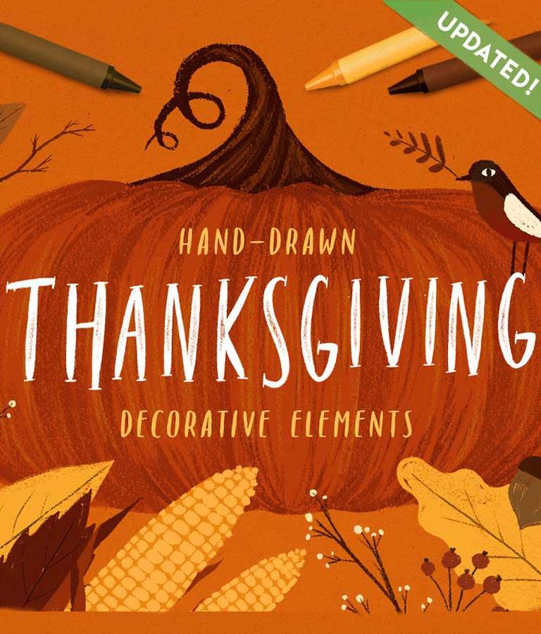 Thanksgiving Decorative Elements