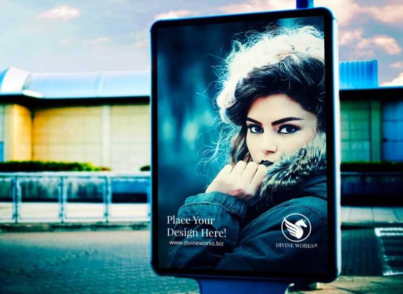 Download Free Display Street Billboard Mockup by Divine Works