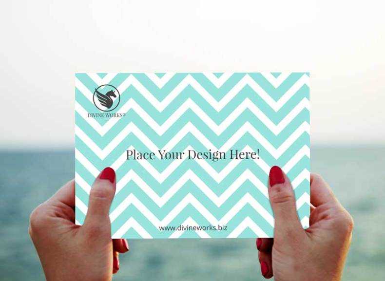 Download Free Greeting Card In Hand Mockup by Divine Works