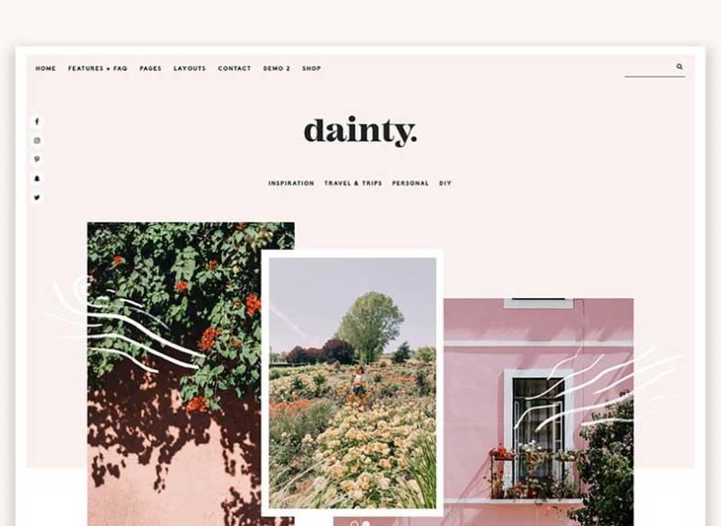 Dainty Blog & Shop WordPress Theme