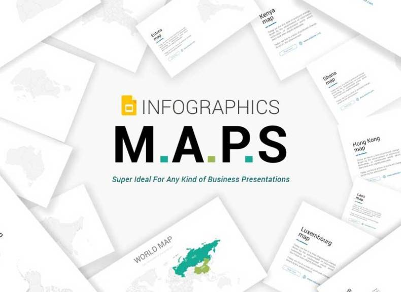 Maps Google Slides infographics