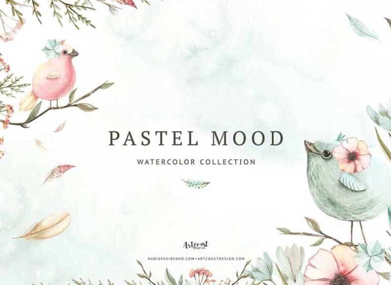 Watercolor Pastel Mood
