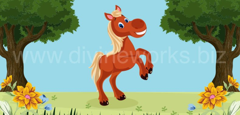 Download Free Horse Cartoon Character Vector by Divine Works