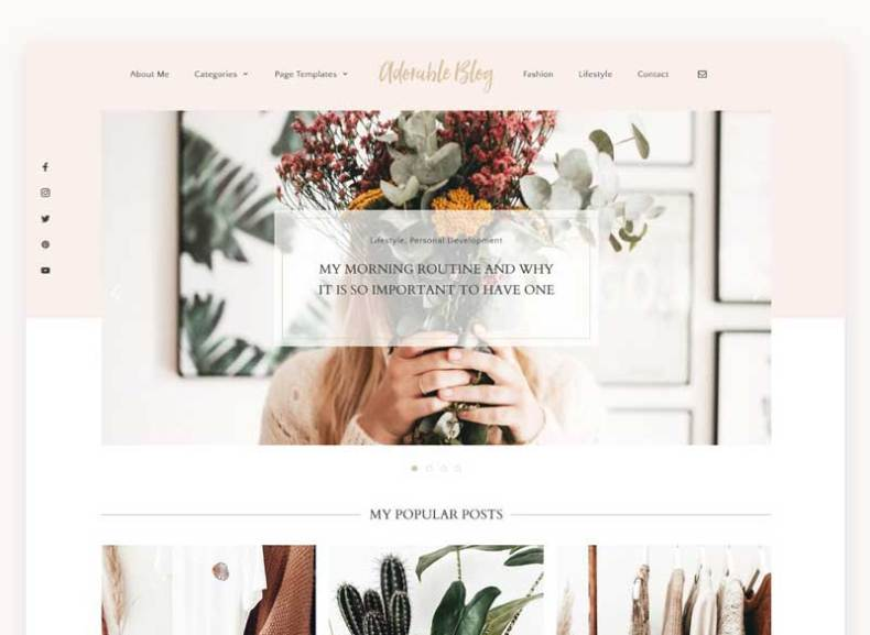 Lifestyle Blog Theme - Adorable