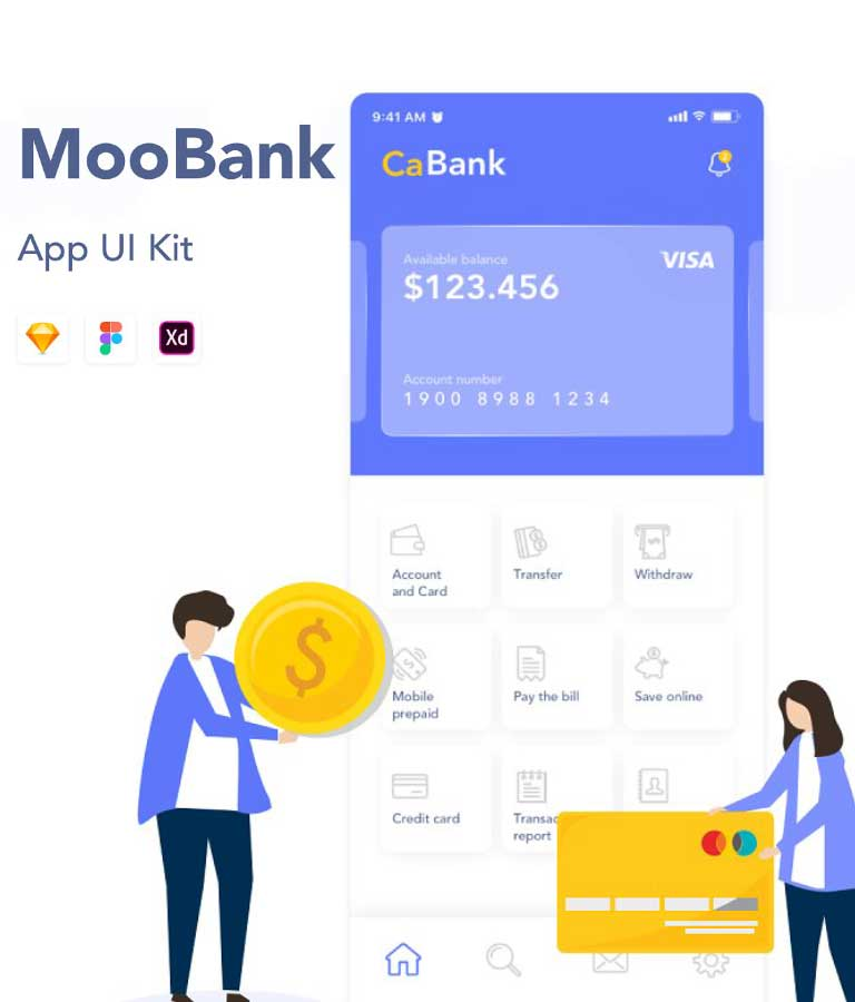 Banking Application UI Kit For Android and iOS