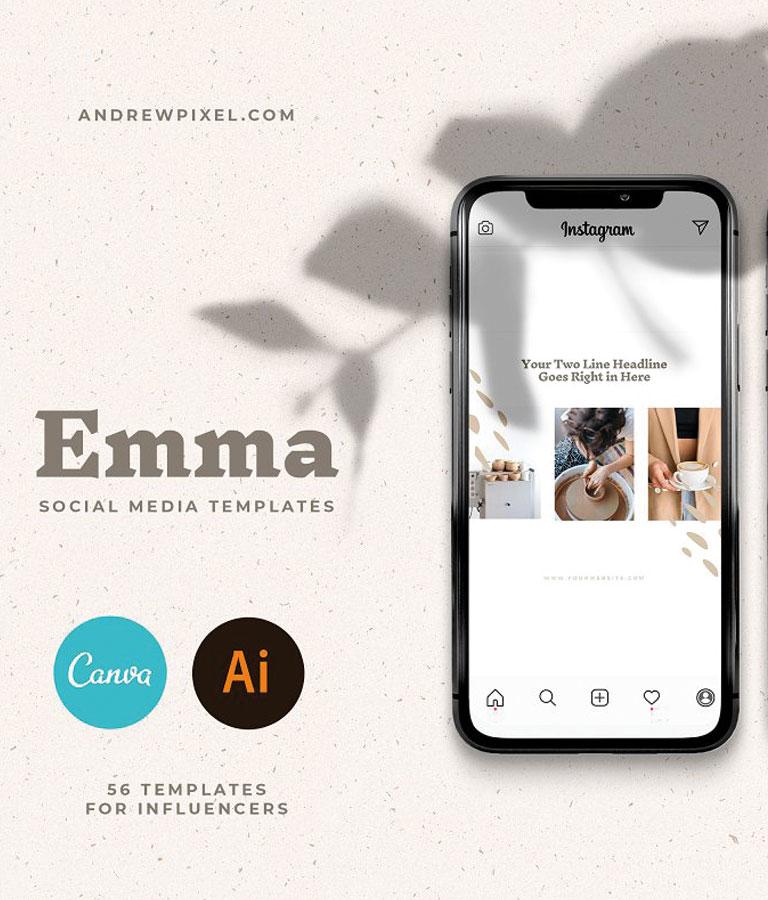 Emma – Social Media Templates