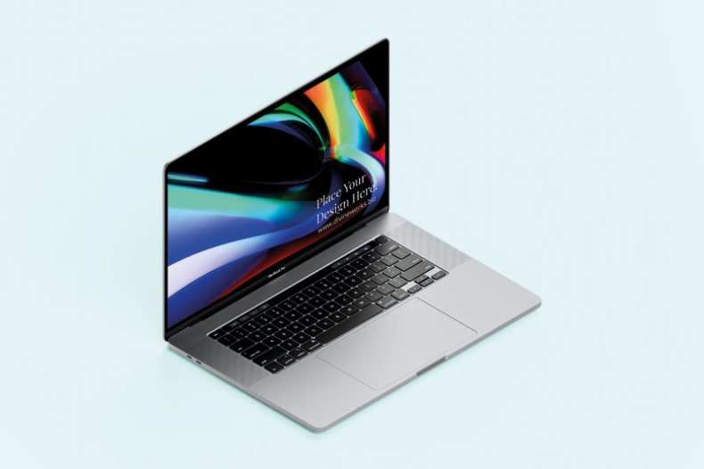 Download Free Isometric Macbook Pro 16 Inch Mockup by Divine Works