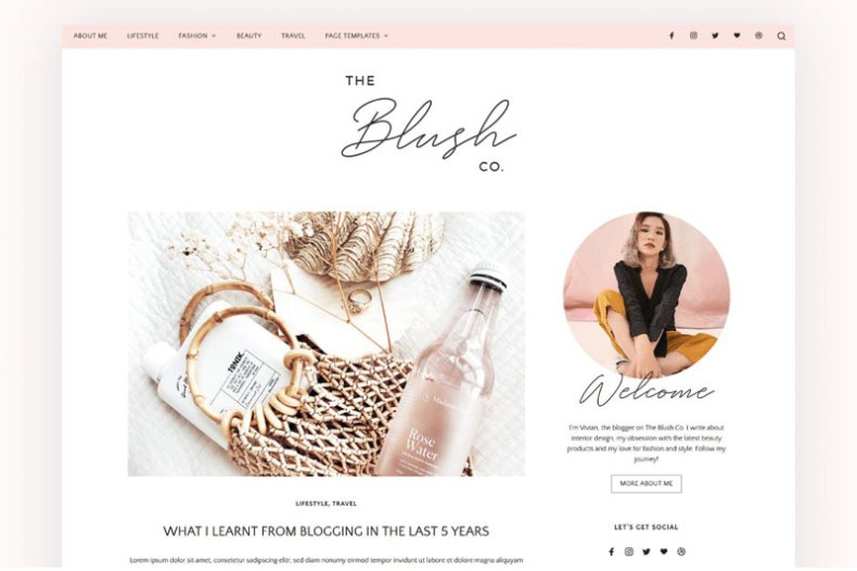 Lifestyle & Beauty Blog Theme