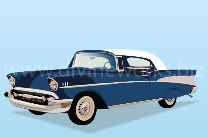 Download Free Chevrolet Bel Air Antique Car Vector by Divine Works
