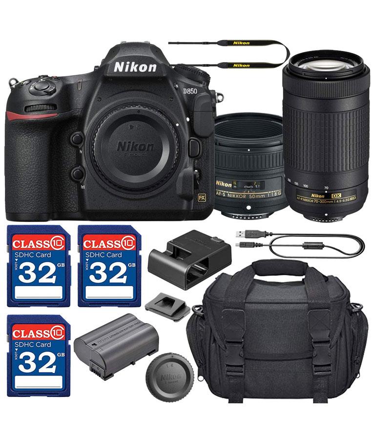 Nikon D850 DSLR Camera with AF-S NIKKOR 50mm