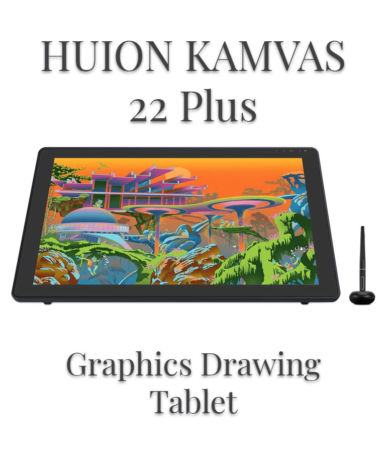 2020 HUION KAMVAS 22 Plus Graphics Drawing Tablet