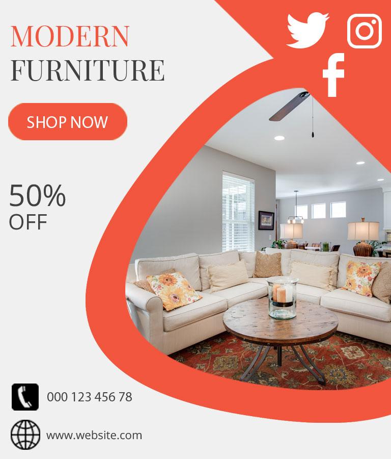 Furniture Sale Social Media Template