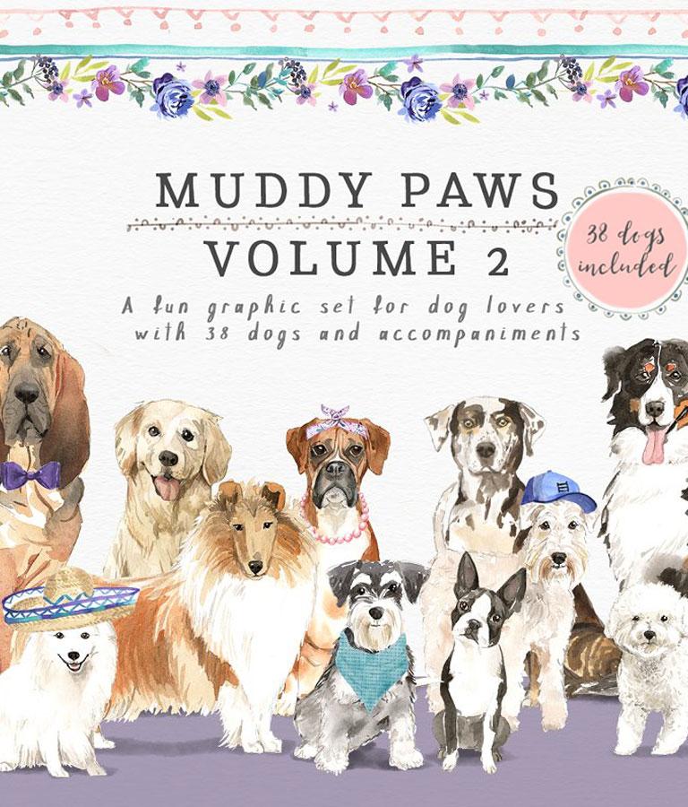 Muddy Paws Volume 2 – Dogs Galore