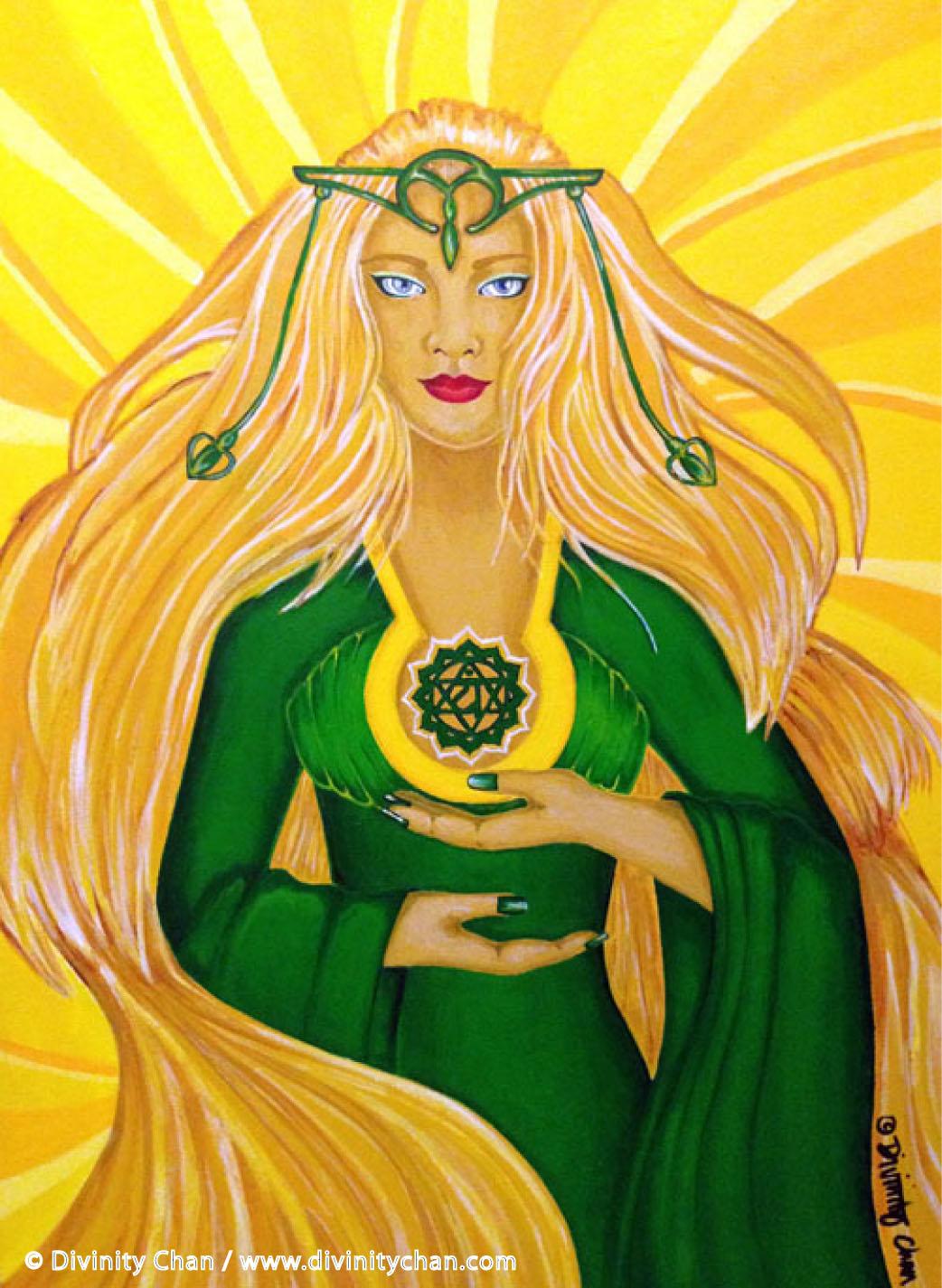 Anahata Heart Chakra Goddess Art Paintings Bedroom Ideas Living Room Ideas Vancouver