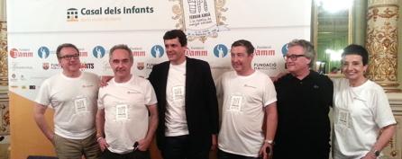 Josep Cuní, Ferran Adrià, Lluis Prats, Joan Roca, Christian Escribà y Carme Ruscalleda