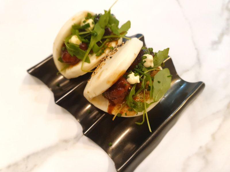 Bao Albóndigas salsa Teriyaki