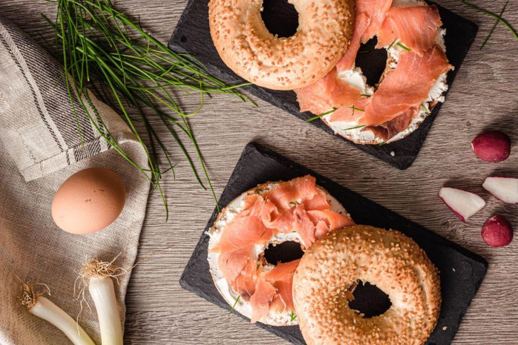 Receta bagels de salmón