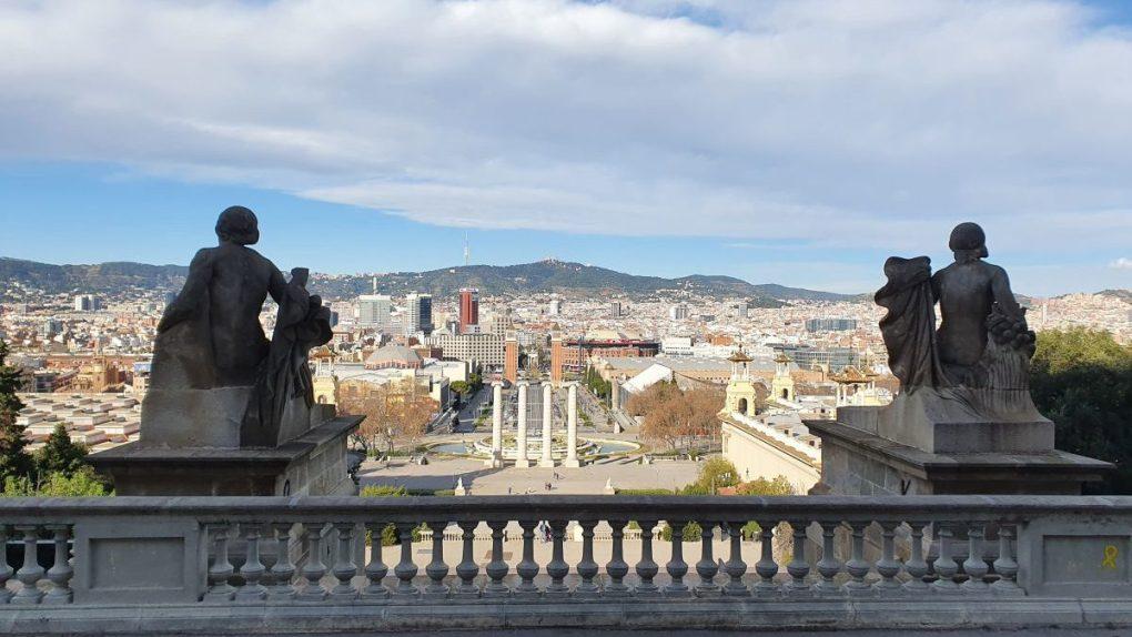 Montjuic vistas a la Font Magica y Plaza España