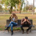 couple on bench divorce