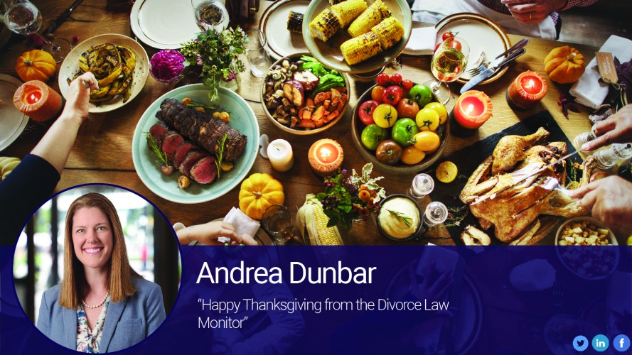 Happy Thanksgiving from the Divorce Law Monitor