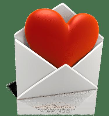Email Marketing Amor Heart Coração Vermelho Carta Envelope