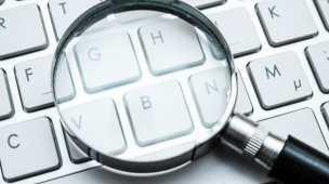 Google Ads Palavras-chave e Lupa no Teclado