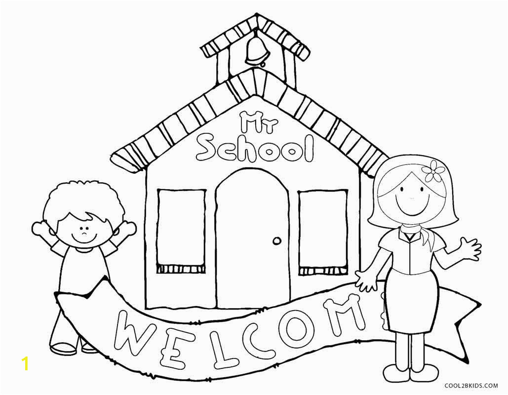 Free Printable First Day Of School Coloring Pages For