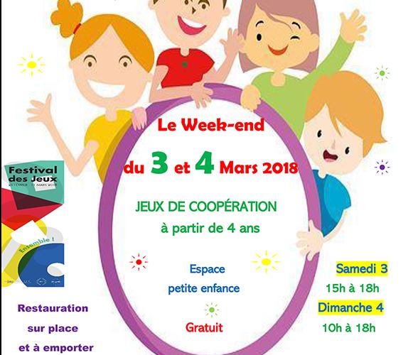Festival Des Jeux organisé en Mars 2018 à l'école Diwan Saint Herblain en Loire-Atlantique
