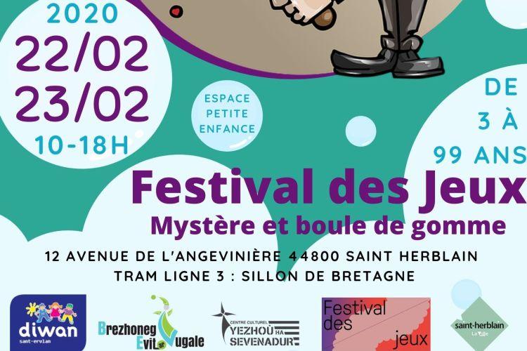 affiche Festival des jeux pour sortir à Saint-Herblain