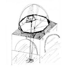 رسم كروكي للقبة