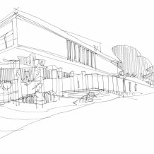 رسم كروكي لفكرة المشروع