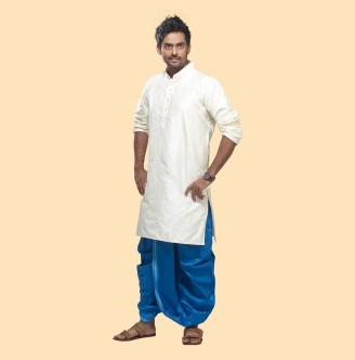 silk kurta with dhoti