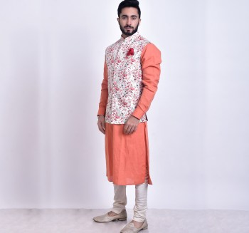 kurta pyjama with jacket