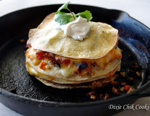 Sweet Potato Chicken Enchilada Stack