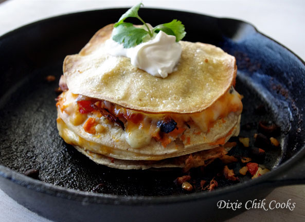 Sweet Potato Chicken Enchilada Stack