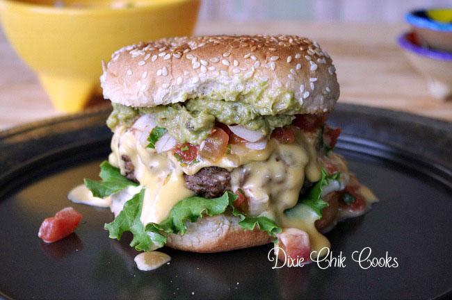 Mango Pico de Gallo Burger
