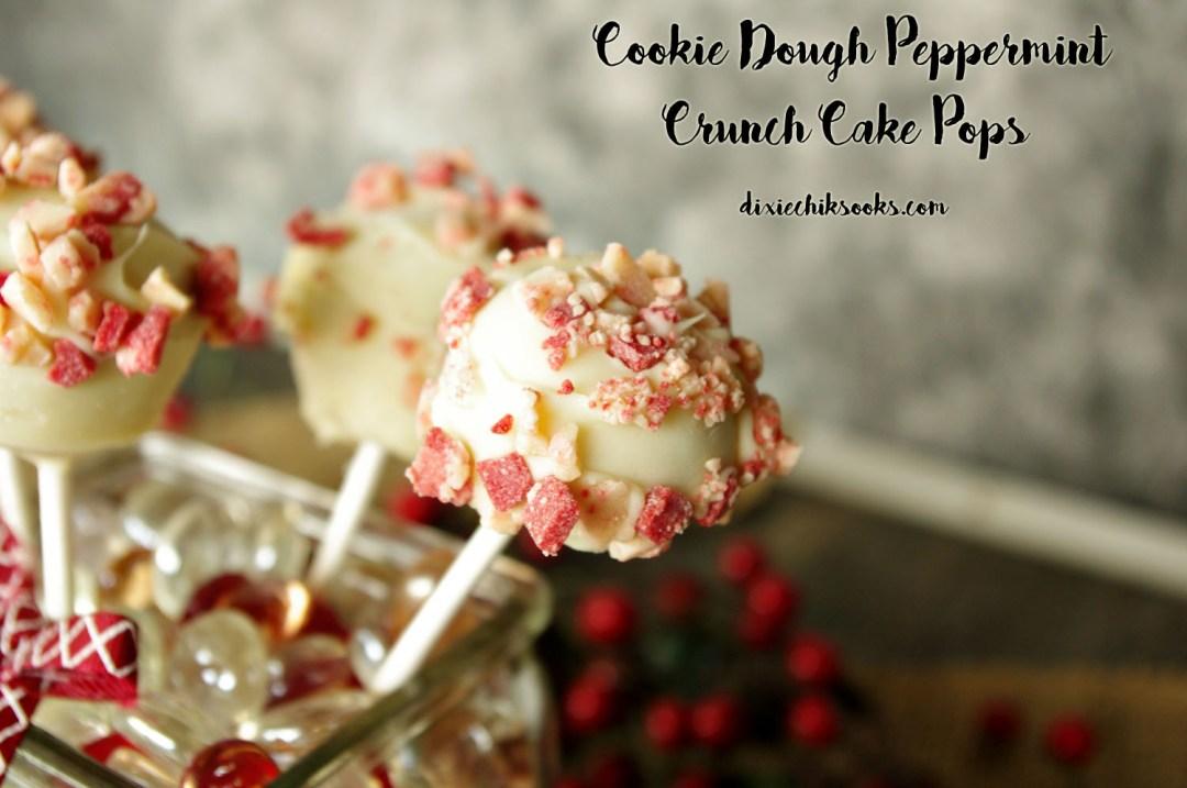 Cookie Dough Peppermint Crunch Cake Pops