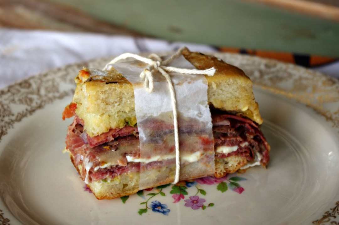 Muffaletta with Olive Tapenade