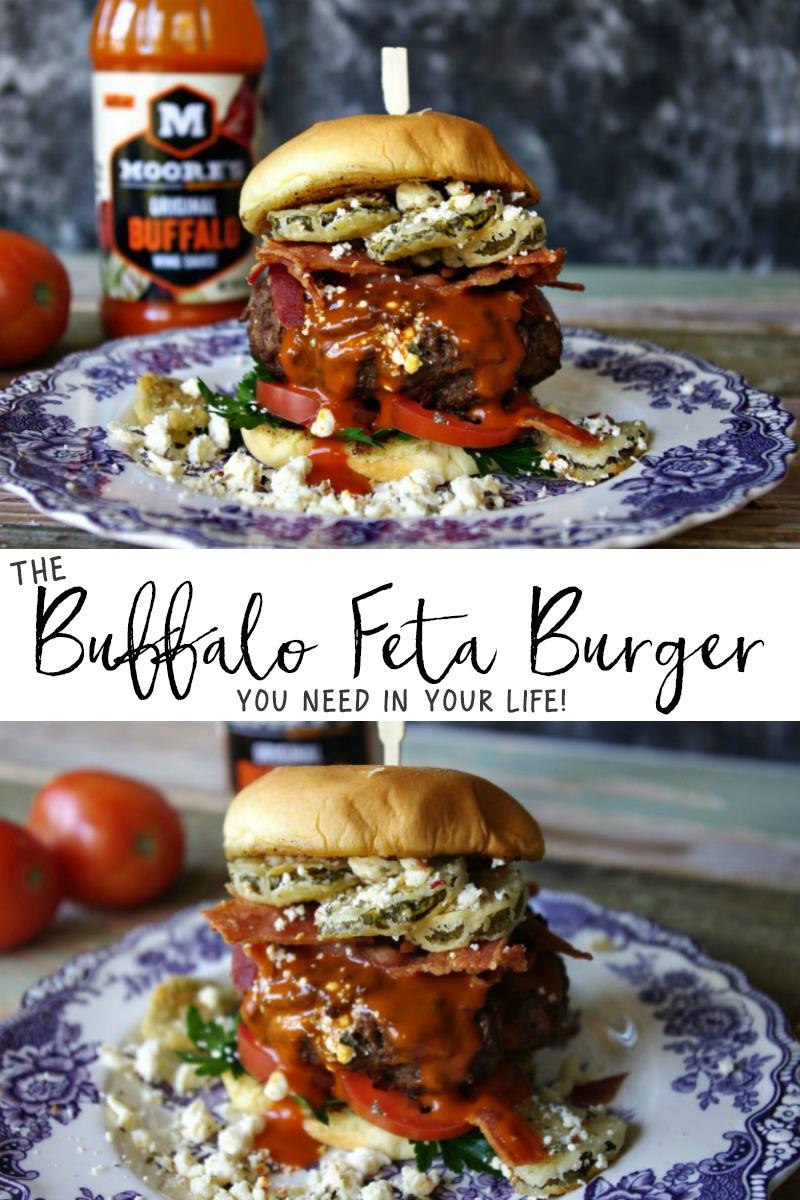 Buffalo Feta Burger
