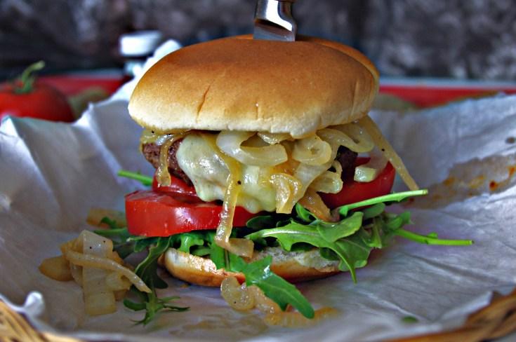 Smoked White Cheddar Burger