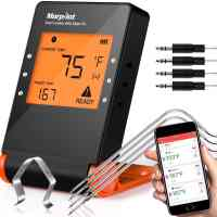 Wireless Grill Thermometer, Bluetooth Wifi, 4 Probes, 2 Meat Claws