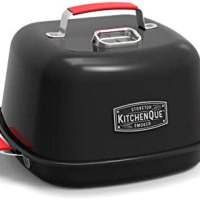 "Charcoal Companion CC4132 KitchenQue Indoor Stovetop Smoker, 13.5"" x 12.5"" x 9.5"", Black"