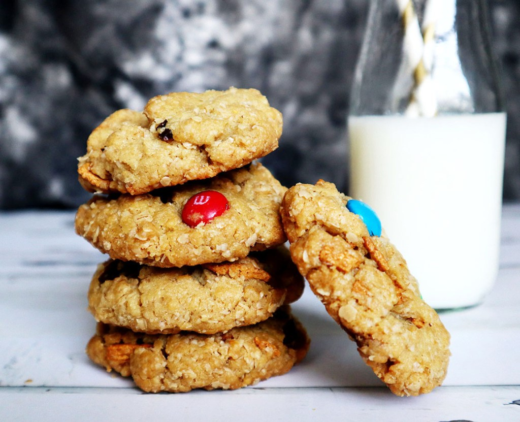 Chocolatey Oatmeal Crunch Cookies